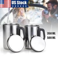 350ml/500ml Stainless Steel Mug Coffee Tea Vacuum Insulated Thermal Cup Bottle Y