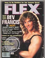FLEX bodybuilding muscle fitness magazine BEV FRANCIS Strongest Women 11-85