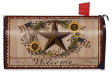 Autumn Welcome Barnstar Magnetic Mailbox Cover Primitive Standard
