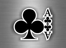 Autocollant sticker voiture jeton poker table casino jeux as de treffle carte A