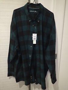 Anko Mens Buffalo Green long sleeve cotton shirt 7XL  BRAND NEW