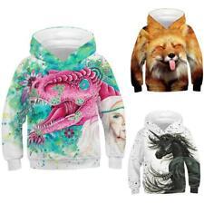 Kids Boys Girls 3D Print Hoodies Sweatshirt Casual Jumper Pullover Sport Jackets