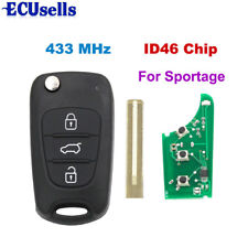 Folding Remote Key 3B Keyless Entry 433MHz ID46 Chip KEY For Kia Sportage