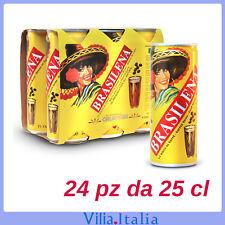Bibita calabrese Gassosa al caffè Brasilena lattina cl 25 X 24 FORMATO RISPARMIO