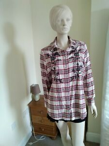 Ladies M And S Checked Shirt Size 16