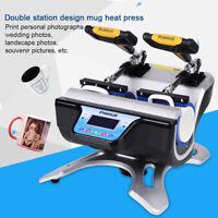Digital Transfer Sublimation Double Cup Coffee Mug Heat Press Printing Machine