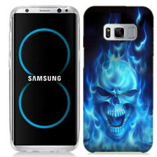 For Samsung Galaxy S8 Flaming Skull Case Skin Cover