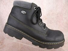 Vtg 90s Skechers Black Leather Grunge Club Jammers Y2K Ankle Boot Us 8.5 Uk 5.5