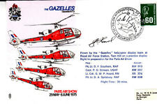The Gazelles France 1975  Paris Air show with special 'Concorde' postmark Signed