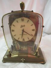 1958 Germany Schatz & Sohne Brass Plastic Pendulum Clock Lectronic rechargeable