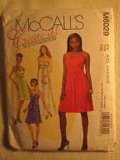 New Vtg McCall's Pattern 6029 Size AX5 4-6-8-10-12 Lined Dress & Neck Tie