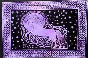 Tapestry Small Unicorn Design Poster Wall Hanging Cotton Poster Handmade Indian