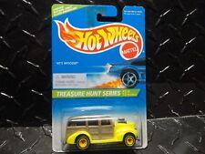 1996 Hot Wheels Treasure Hunt #428 Yellow 40's Woodie Yellow Rims in Protecto