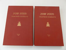 1972 SHABBATH Hebrew-English Ed of the Babylonian Talmud 2Vol. THE SONCINO PRESS