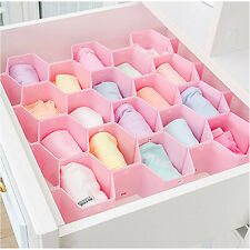Honeycomb Foldable Drawer Organizer Divider Underwear Bra Socks  Closet Storage