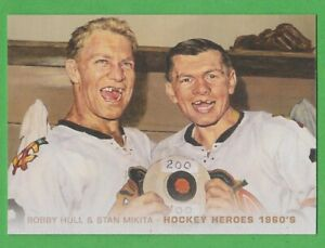 2011-12 Upper Deck Hockey Heroes #HH26 Bobby Hull/Stan Mikita ART