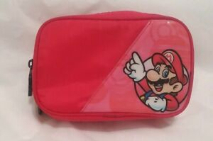Nintendo Super Mario DS Carrying Case Carry Bag Zippered 2 sides Pockets