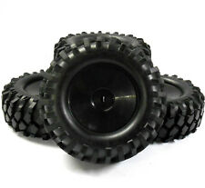 A960005 1/10 Scale OFF ROAD ROCK CRAWLER RUOTE e pneumatici x 4 in plastica nera DISCO