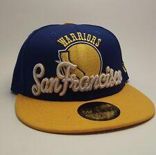 New Era 59Fifty NBA Ball Cap Golden State Warriors Classic 7 1/8 Blue Fitted Hat