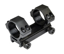 30Mm Picatinny Scope Mount Rings Fixed, Low Profile, Aluminum, Black Us Seller