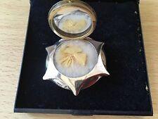 Solid Silver Star Shaped Locket Compact Original Swan Down Powderpuff 1920