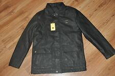 NWT AC DIMILANO Black Faux Leather Jacket, Last Collection, Long Jacket, Mens L