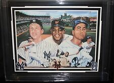 WILLIE MAYS & DUKE SNIDER MATTED AND FRAMED AUTOGRAPHED POSTER JSA CERTIFIED