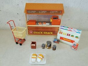 Vintage ARCO Merry's Barbie Snack Shack Hamburger Stand with Accessories