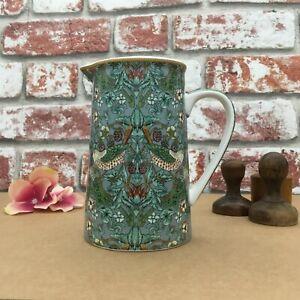 Vase, S Berry Thief Teal Jug  H 14 x W 12  x D 9 cm