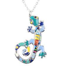 Gecko Lizard Necklace Enamel Pendant Jewellery Women Girls Gifts