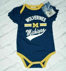 NCAA Michigan Wolverines Baby Infant One Piece Bodysuit Size 6-9 Months