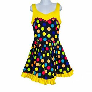 Costume Gallery 104325Q Child Dance SZ L Yellow Black Polka Dot Competition Solo
