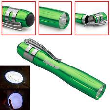 Tactical 12000LM Waterproof Q5 LED Flashlight Clip Light AAA Green Hiking Lamp