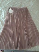 Boohoo Pleated Midi Skirt Blush Size 14