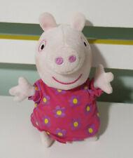 PEPPA PIG PLUSH TOY! PINK DRESS TALKING TOY 18CM! 2003 FLOWERS ON DRESS