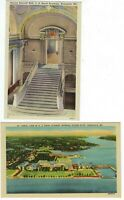 LOT of 3 Annapolis Maryland U.S. Naval Academy VINTAGE POSTCARDS & POSTCARD BOOK