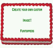 Your own personalized image Party Icing Edible Image Cake Topper 1/4 sheet