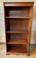 Antique Wooden Bookcase With 3 Adjustable Shelves