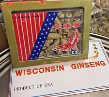 4oz Per Box High-Quality American Ginseng Size M Root 美国威州中泡花旗参(U.S Seller)