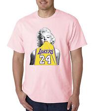 e1edc3102b11 New Way 412 - Unisex T-Shirt Marilyn Monroe Lakers 24 Kobe Bryant Gold  Jersey