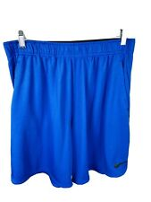 Nike Fit-Dry Size XL Mens Shorts Athletic Blue Black Basketball