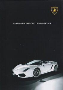 Lamborghini Gallardo LP560-4 Spyder Prospekt, 2009