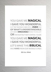 Biffy Clyro - Biblical - Colour Print Poster Art