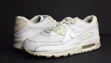 Nike Air Max 90 Men's White Leather Athletic Lifestyle Sneakers/Shoes Size 9.5