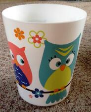 Whooty Hoot Wastebasket by Mainstays - Plastic, MS13-006-001-11, White