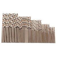 2X(50 Stücke Drill Force Werkzeug M35 Cobalt Bohrer Satz, Hss-Co Bohrer Sat W1N9