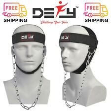 DEFY NYLON WEIGHT LIFTING HEAD HARNESS NECK STRENGTH STRAP GYM EXERCISE FITNESS