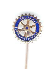 small ROTARY INTERNATIONAL enamel lapel pin badge - PROUDS maker