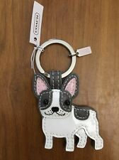 Coach French Bulldog Boston Terrier Dog Key Chain Fob Charm Keychain 61909 New