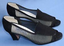 Sacha London Black Heels Pumps 8 1/2 B 8.5 Peep Toe See Through Sides Womens